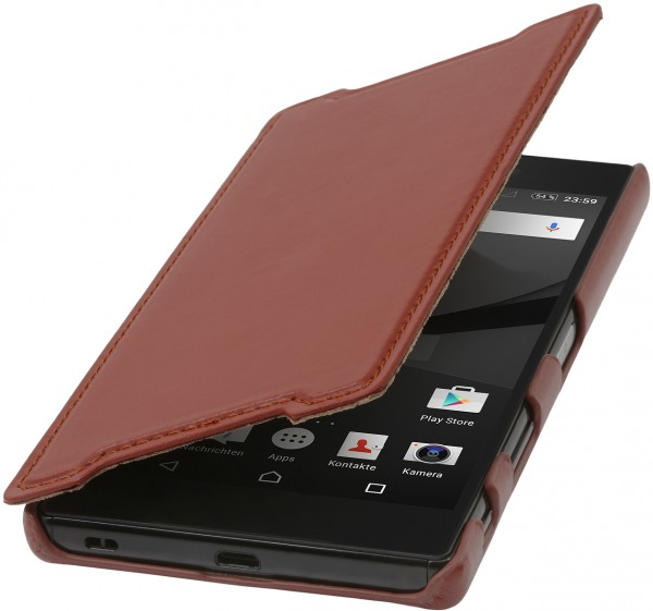StilGut - Xperia Z5 Premium Tasche Book Type aus Leder ohne Clip