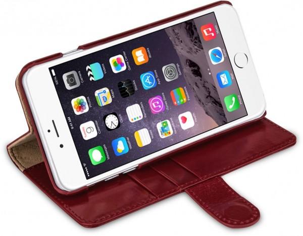 """StilGut - iPhone 6s Plus Hülle """"Talis"""" mit Standfunktion aus Leder"""