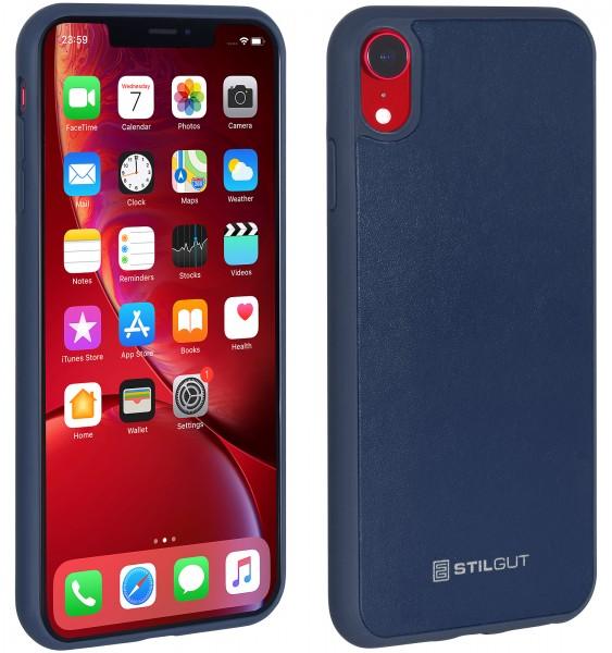 StilGut - iPhone XR Case mit Lederrückseite