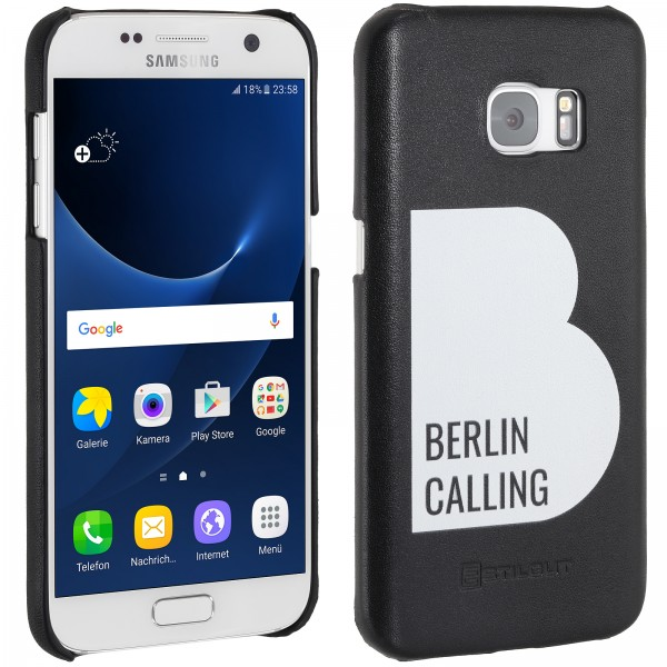 StilGut - Samsung Galaxy S7 Cover Berlin Calling aus Leder - Like Berlin Edition