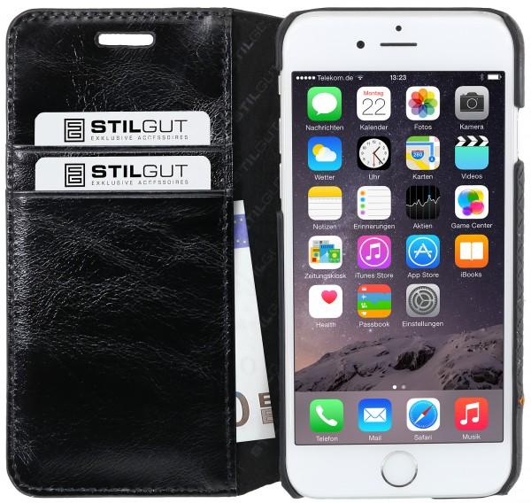 StilGut - iPhone 6s Plus Hülle Talis Slim mit Kreditkartenfach