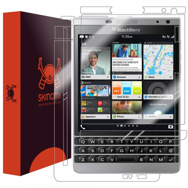 Skinomi - Displayschutzfolie BlackBerry Passport Silver Edition Full Body