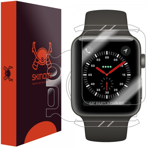 Skinomi - Displayschutzfolie Apple Watch Series 3 (42 mm) Full Body