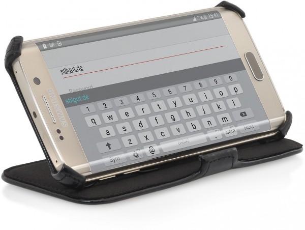 """StilGut - Handyhülle für Galaxy S6 edge """"UltraSlim"""" mit Standfunktion"""
