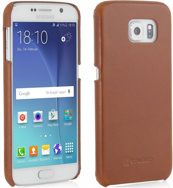 "StilGut - Handyhülle für Galaxy S6 ""Cover Type"" aus Leder"