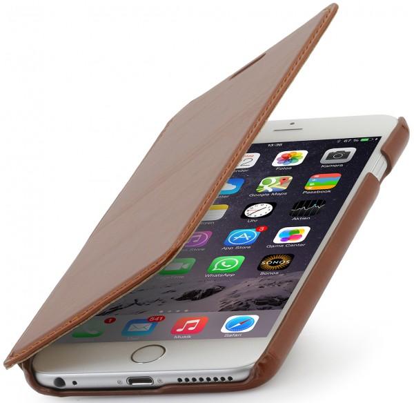 "StilGut - Handyhülle für iPhone 6 Plus ""Book Type"" aus Leder ohne Clip"