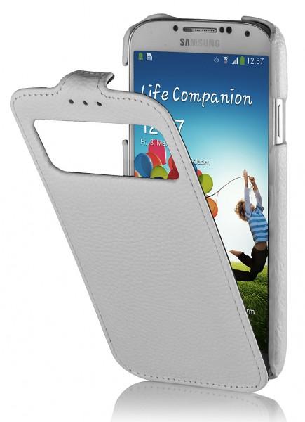 StilGut - Ledertasche mit Sichtfenster für Galaxy S4 i9500 & 9505
