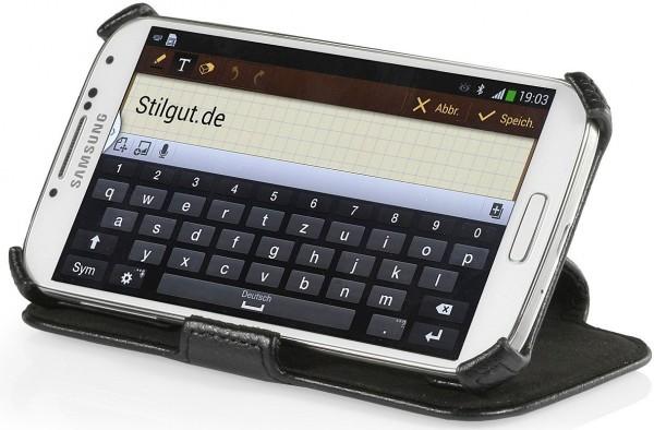 StilGut - Tasche mit Standfunktion für Galaxy S4 i9500
