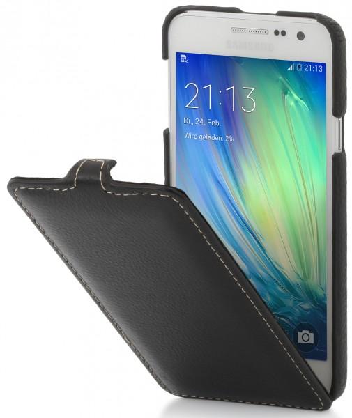 "StilGut - Handyhülle für Galaxy A3 ""UltraSlim"" aus Leder"