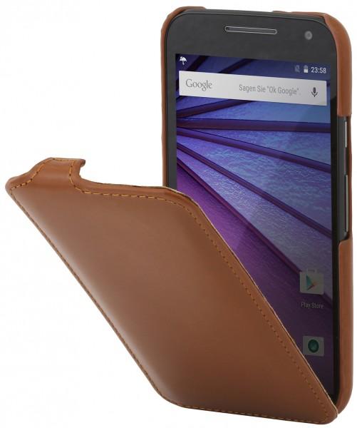 """StilGut - Handyhülle für Motorola Moto G (3. Gen.) """"UltraSlim"""" aus Leder"""