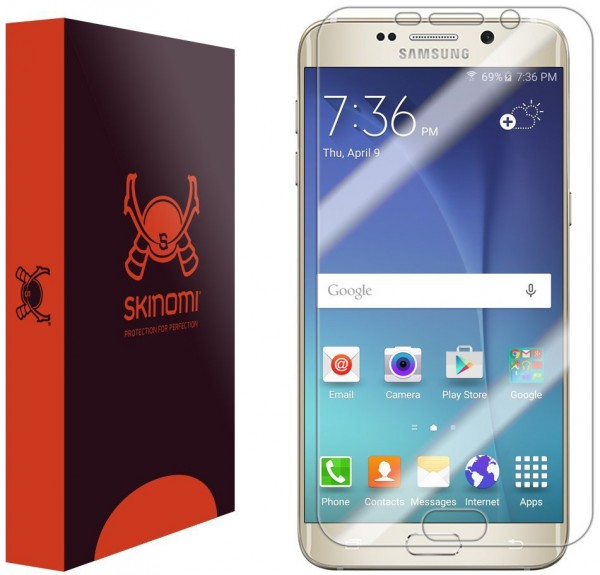 Skinomi - Displayschutzfolie für Galaxy S6 edge+ TechSkin