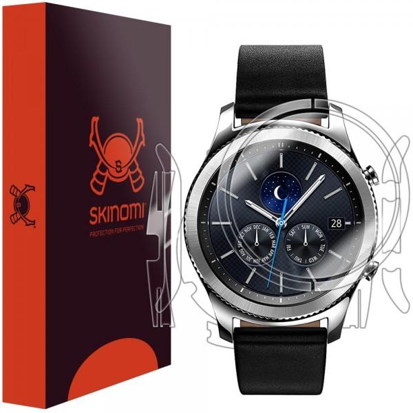 Skinomi - Displayschutzfolie Samsung Gear S3 classic Vorder- und Rückseite