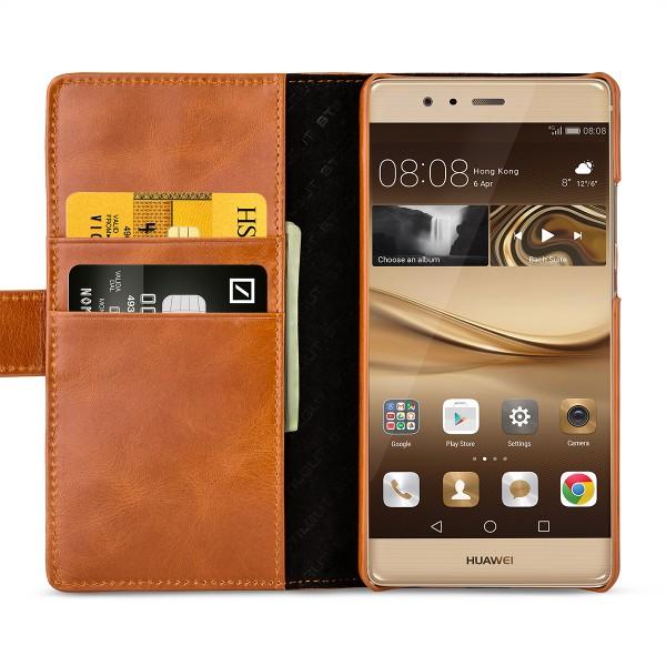 StilGut - Huawei P9 Plus Hülle Talis mit Kreditkartenfach