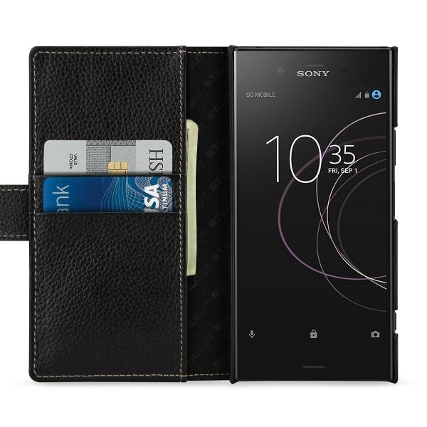 StilGut - Sony Xperia XZ1 Hülle Talis mit Kreditkartenfach