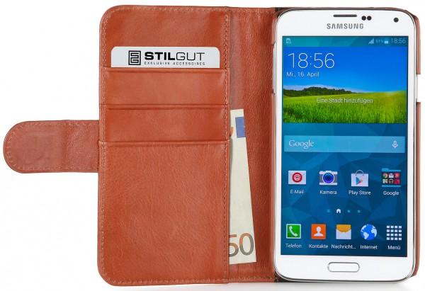 """StilGut - Ledertasche """"Talis"""" Fashion Serie für Samsung Galaxy S5"""
