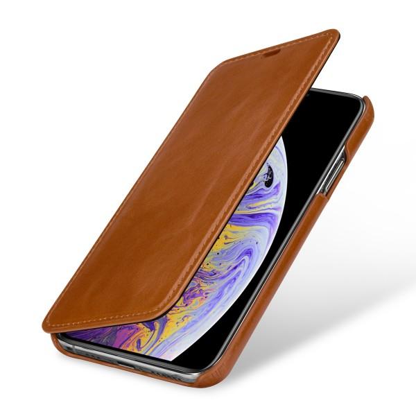 StilGut - iPhone XS Case Book Type ohne Clip