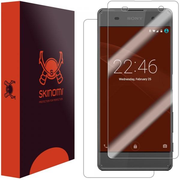Skinomi - Displayschutzfolie Sony Xperia XA TechSkin Vorder- und Rückseite