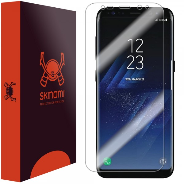 Skinomi - Displayschutzfolie Samsung Galaxy S8+ TechSkin Maximum Coverage
