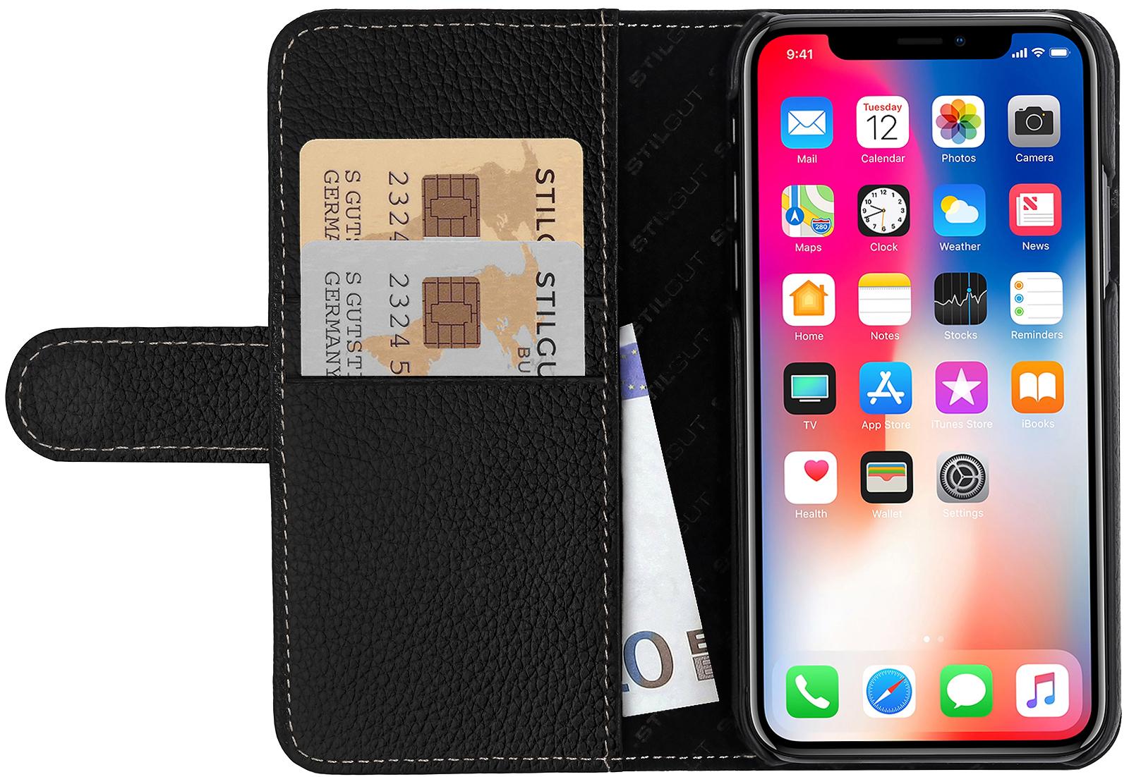 iphone x h lle talis mit kreditkartenfach aus leder kaufen. Black Bedroom Furniture Sets. Home Design Ideas