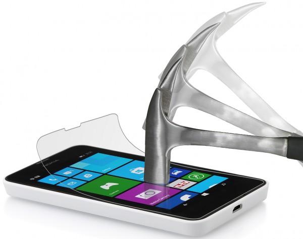 "StilGut - Displayschutzfolie ""Panzerglas"" für Nokia Lumia 630 & 635"