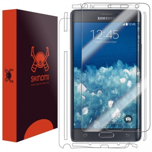 Skinomi - Displayschutzfolie für Galaxy Note Edge (2er Pack) TechSkin für Vorder- und Rückseite