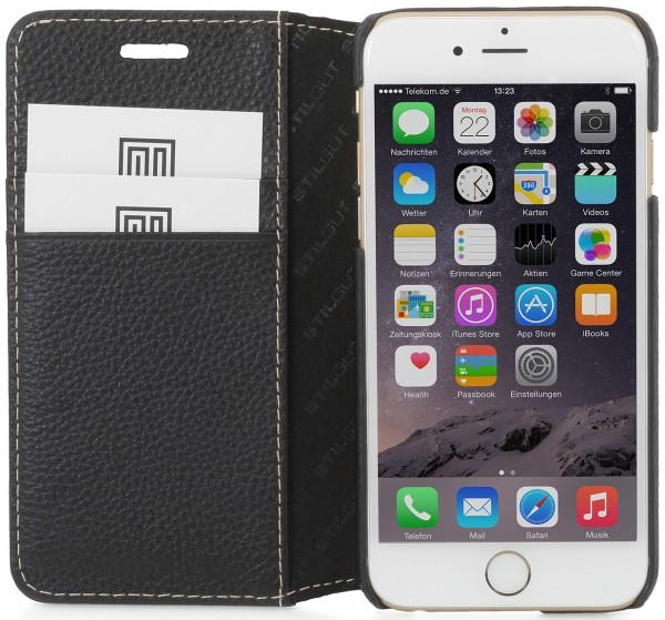 "StilGut - iPhone 6s Hülle ""Talis"" mit Kreditkartenfach aus Leder"