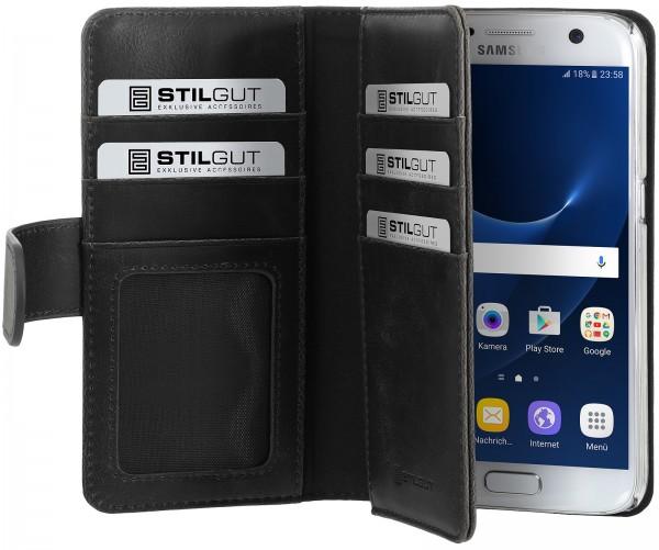 StilGut - Samsung Galaxy S7 Hülle Talis XL mit Kreditkartenfach