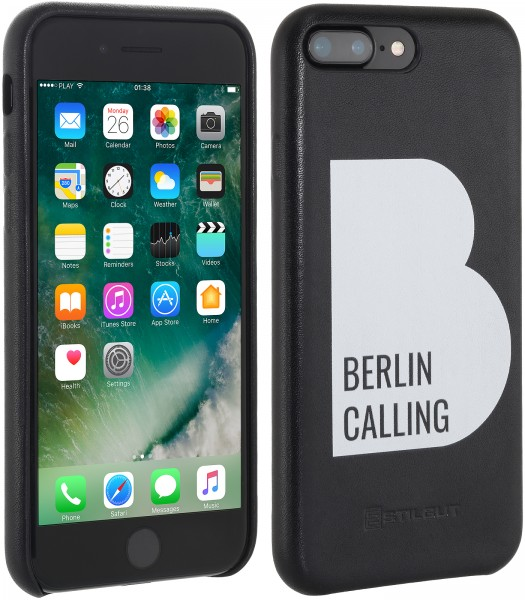 StilGut - iPhone 7 Plus Cover Berlin Calling aus Leder - Like Berlin Edition