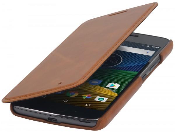 StilGut - Moto G5 Case Book Type ohne Clip