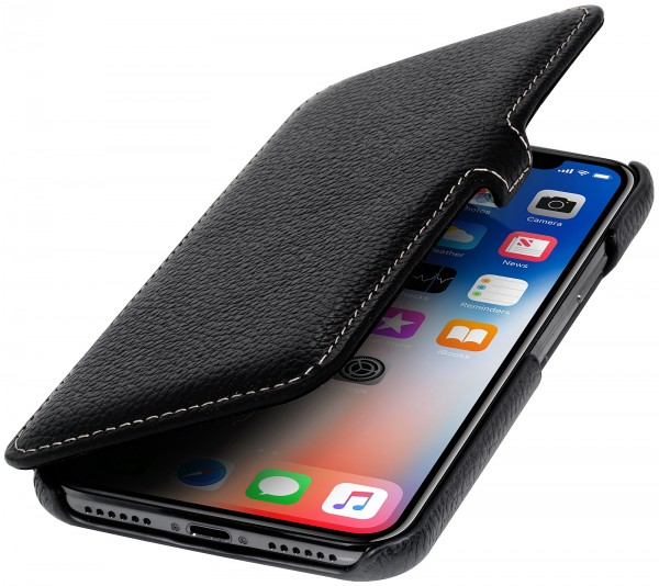 StilGut - iPhone X Tasche Book Type mit Clip