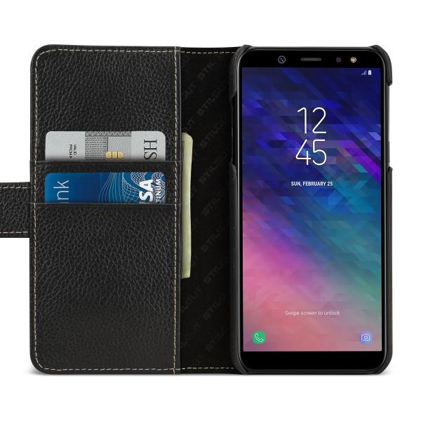 StilGut - Samsung Galaxy A6 (2018) Hülle Talis mit Kartenfach