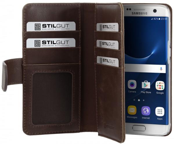 StilGut - Samsung Galaxy S7 edge Hülle Talis XL mit Kreditkartenfach