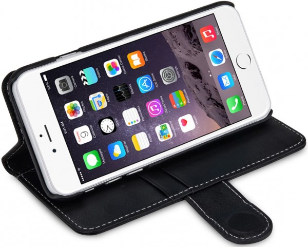 """StilGut - iPhone 6s Hülle """"Talis"""" mit Standfunktion aus Leder"""