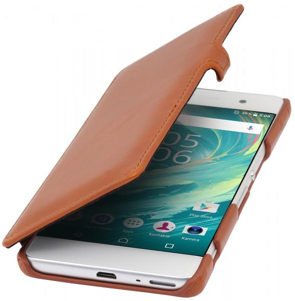 StilGut - Sony Xperia XA Tasche Book Type aus Leder mit Clip