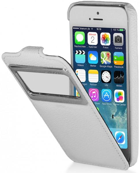 StilGut - Ledertasche mit Sichtfenster (iOS 7) für iPhone 5 & iPhone 5s