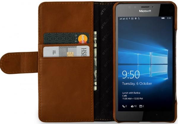 StilGut - Lumia 950 Hülle Talis mit Kreditkartenfach
