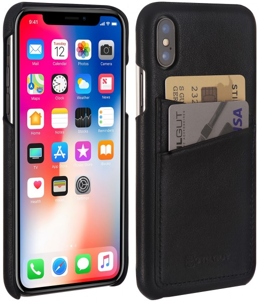 StilGut - iPhone X Cover mit Kartenfach