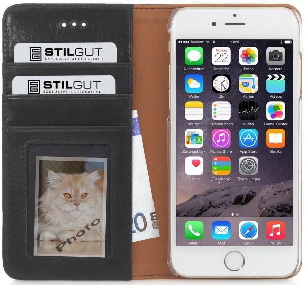 "StilGut - iPhone 6s Plus Hülle ""Talis"" Italian Series aus Leder"