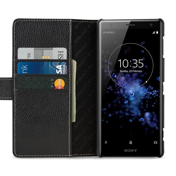 StilGut - Sony Xperia XZ2 Hülle Talis mit Kreditkartenfach