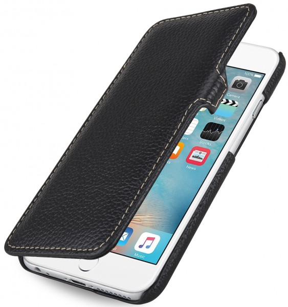 "StilGut - iPhone 6s Plus Tasche ""Book Type"" aus Leder mit Clip"