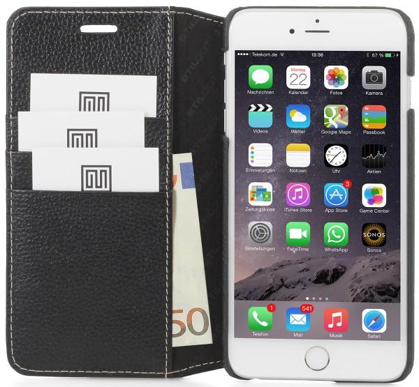 """StilGut - iPhone 6s Plus Hülle """"Talis"""" mit Kreditkartenfach aus Leder"""