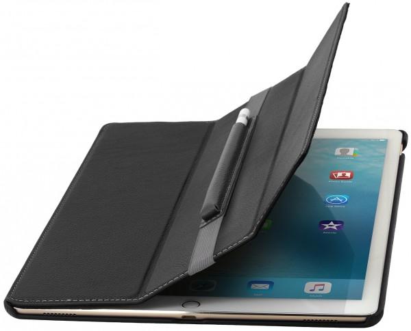 """StilGut - iPad Pro 12.9"""" Hülle Couverture aus Leder mit Pencil-Halter"""