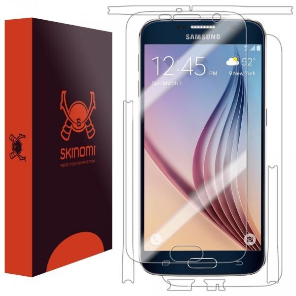 Skinomi - Schutzfolie für Galaxy S6 Vorder- und Rückseite