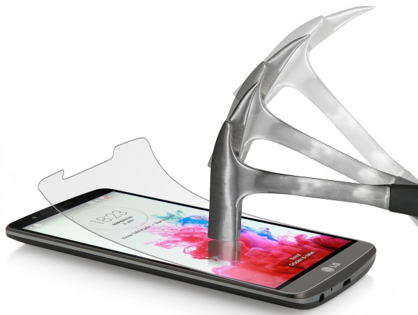 """StilGut - Displayschutzfolie """"Panzerglas"""" für LG G3 (2er-Pack)"""