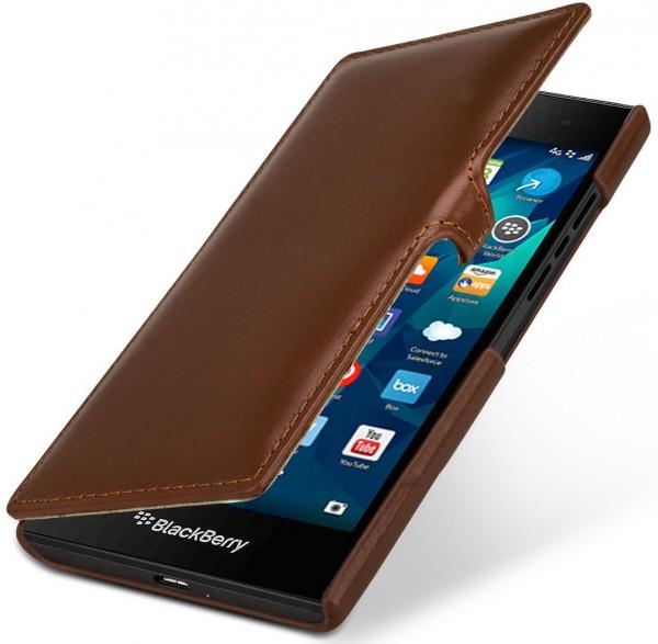 """StilGut - Handyhülle für BlackBerry Leap """"Book Type"""" mit Clip"""