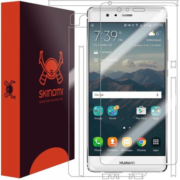Skinomi - Displayschutzfolie Huawei P9 TechSkin Vorder- und Rückseite