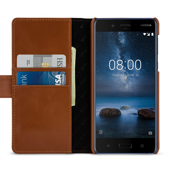 StilGut - Nokia 8 Hülle Talis mit Kreditkartenfach