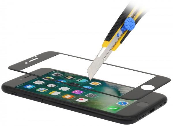 StilGut - Panzerglas 3D curved iPhone 8 mit schwarzem Rand
