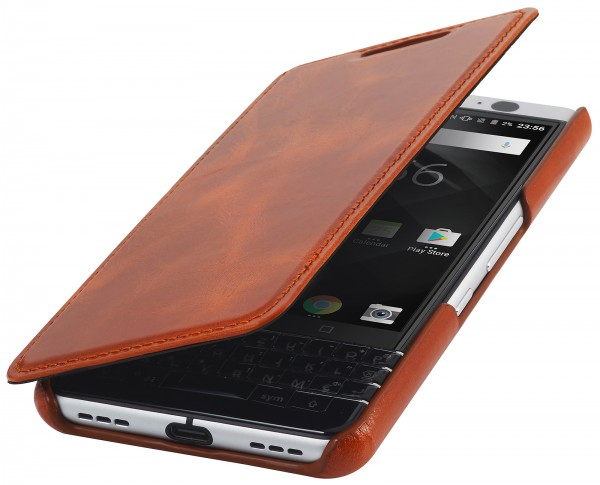 StilGut - BlackBerry KEYone Case Book Type ohne Clip
