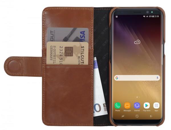 StilGut - Samsung Galaxy S8+ Hülle Talis mit Kreditkartenfach